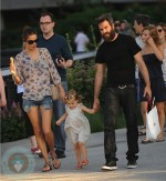 Alessandra Ambrosio with daughter Anja and fiance Jamie Mazur