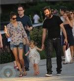 Alessandra Ambrosio with daughter Anja and fiance Jamie Mazur