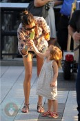 Alessandra Ambrosio with daughter Anja