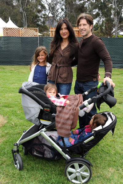Alicia Coppola, husband Anthony Michael Jones with daughters Mila Roselena, Greta Helena and Esme Marlena