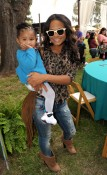 Christina Milian with daughter Violet Nash at Elizabeth Glaser Fundraiser