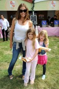 Denise Richards with Sam and Lola at Elizabeth Glaser fundraiser