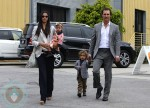 Matthew McConaughey with partner Camila Alves and kids Vida and Levi