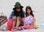 Katie Holmes and daughter Suri Cruise in Miami