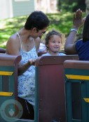 Halley Berry with daughter Nahla at the park