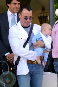 David Furnish with son Zachary Jackson Levon