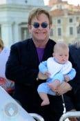 Elton John with son Zachary Jackson Levon