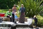 Gwen Stefani with sons Zuma and Kingston