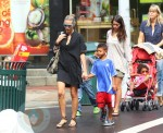 Heidi Klum with son Henry and daughter Lou in NYC