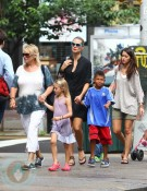 Heidi Klum with kids Henry and Leni in NYC