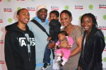 Kelton Conway, former NFL player Curtis Conway, Curtis Conway Jr., Laila Ali, Lelani Conway and Sydney Conway