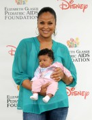 Laila Ali with daughter Sydney at Elizabeth Glaser fundraiser