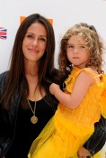 Soleil Moon Frye with daughter Jagger at Kidstock