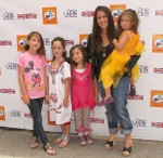 Soleil Moon Frye with daughters Jagger and Poet at Kidstock