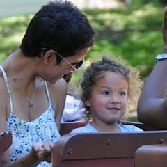 Halle Berry Heads To The Park With Nahla