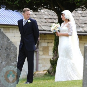 Sam Cooper and Lily Allen on their wedding day