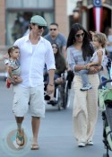 Matthew McConaughey and Camila Alves with kids Levi and Vida