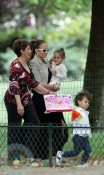 Jennifer Lopez in Paris with her children Max and Emme