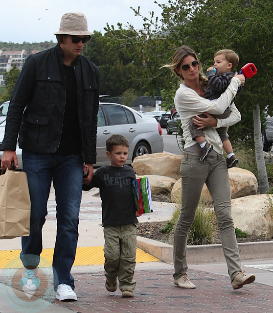 Tom Brady and Gisele Bundchen with sons John and Ben