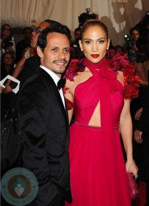 "Jennifer Lopez and Marc Anthony attend the ""Alexander McQueen: Savage Beauty"" Costume Institute Gala"
