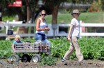 Gwen Stefani with son Zuma Rossdale at Underwood Farms in LA