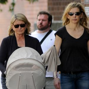 Martha Stewart Strolls With Her Girls in New York