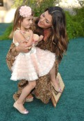 Ali Landry and daughter Estella @ Zookeeper premiere