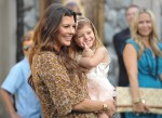 Ali Landry and daughter Estella At Zookeeper premiere