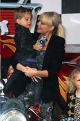 Emma Bunton and son Beau at Cars2 premiere