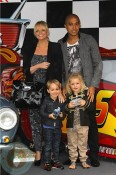 Emma Bunton with husband Jade and son Beau @ Cars2 premiere
