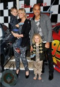 Emma Bunton with husband Jade and son Beau at Cars2 premiere