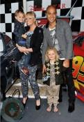 Emma Bunton with husband Jade and son Beau at Cars2 premiere