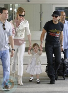 Nicole Kidman and Keith Urban with daughter Sunday Rose