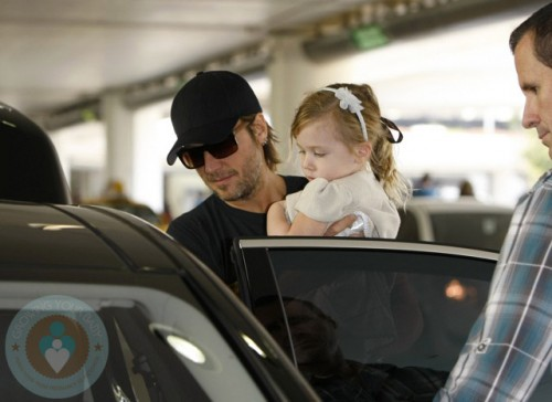Keith Urban with daughter Sunday Rose