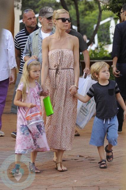 Italian Boy Name: Gwyneth Paltrow With Children Apple & Moses Martin