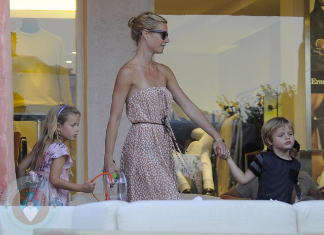 Gwyneth Paltrow With Children Apple Amp Moses Martin