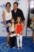 Brooke Shields with husband Chris and daughters Rowana and Grier Hency