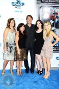 Jeff Foxworthy With his family at Smurfs Premiere
