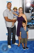 Melissa Joan Hart with her husband Mark and son Bradon and Mason Wilkerson