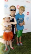 Edie Falco with kids Anderson and Macy at Super Saturday 14