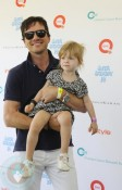 Matthew Settle with his daughter Aven
