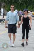 Jessica Capshaw and Christopher Gavigan in Portofino