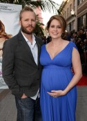 Lee Kirk and a very pregnant Jenna Fisher