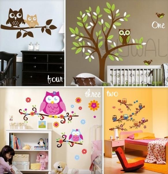 Kid S Room Decals Retro Owls Growing Your Baby