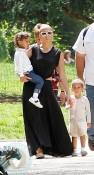 Jennifer Lopez & Her kids Play at Parc Monceau in Paris
