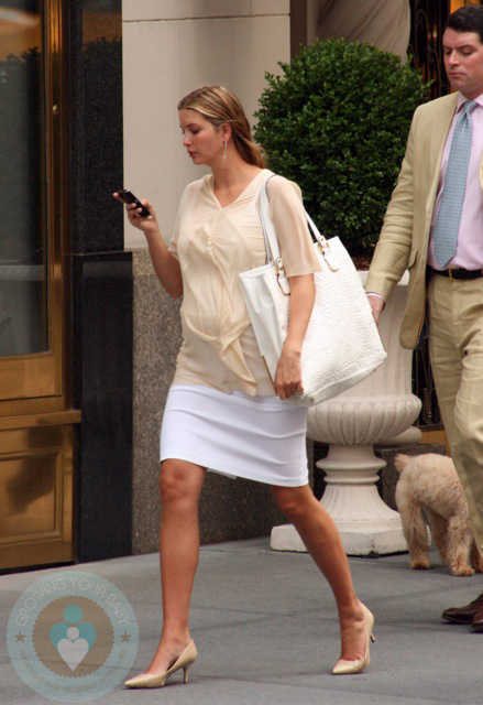 A pregnant Ivanka Trump out in NYC - Growing Your Baby ...