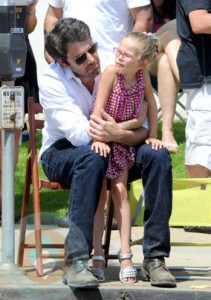 Ben Affleck with daughter Violet at 4th of July Parade