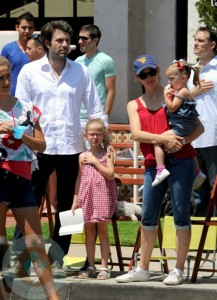 Jennifer Garner and Ben Affleck with daughters Seraphina & Violet at 4th of July Parade