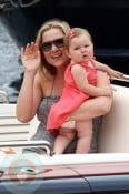 Jessica Capshaw with daughter Eve Gavigan