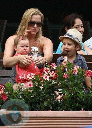 Jessica Capshaw With Children Luke And Eve Gavigan